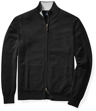 Buttoned Down Men's Cashmere Full-Zip Sweater