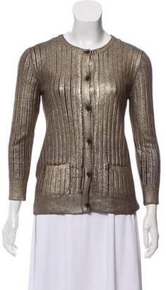 Prada Metallic Wool Cardigan