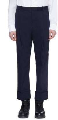 3.1 Phillip Lim Roll cuff cropped pleated saddle pants
