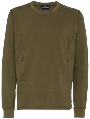 Stone Island Shadow Project crew neck cotton sweatshirt