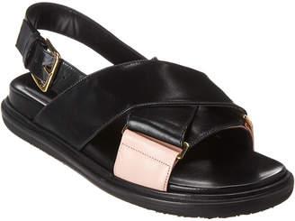 Marni Fussbett Leather Sandal