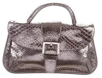 Tod's Mini Metallic Python Top Handle Bag