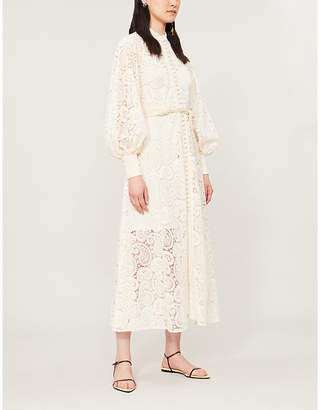 3ff6b5f0524 Zimmermann Amari high-neck paisley lace midi dress