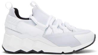 Pierre Hardy White Trek Comet Sneakers