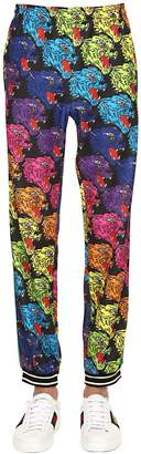 Gucci Angry Tiger Printed Jersey Sweatpants