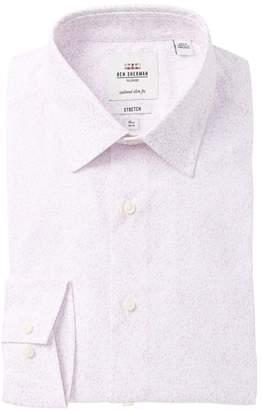 Ben Sherman Floral Print Tailored Slim Fit Dress Shirt