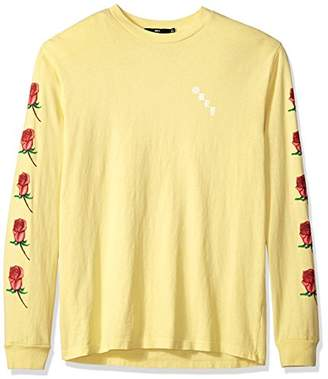Obey Men's Airbrushed Rose Dyed Long Sleeve T-Shirt