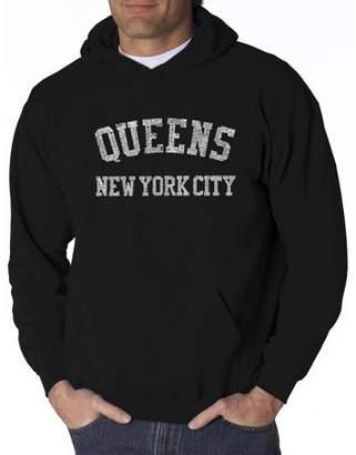 Los Angeles Pop Art Big Men's hooded sweatshirt - popular neighborhoods in queens, NY