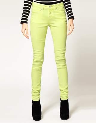 Asos Design Skinny Jeans in Neon Yellow #4