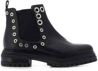 Sergio Rossi Crystal Moon boots