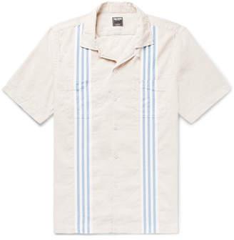 Todd Snyder Camp-collar Striped Cotton And Linen-blend Shirt - Cream