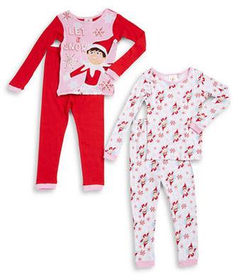 Ame Sleepwear Four-Piece Shelf Elf Pajama Set $44 thestylecure.com