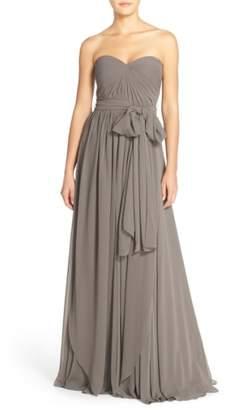 Jenny Yoo Mira Convertible Strapless Chiffon Gown