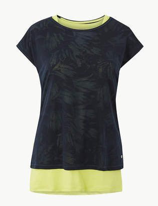 Marks and Spencer Double layer Short Sleeve Sport Top