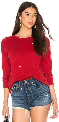 Sundry Star Patches Cashmere Blend Crew Neck Sweater