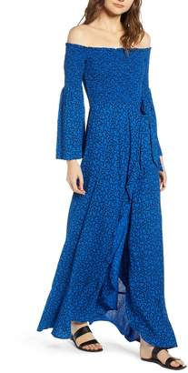 Band of Gypsies Bali Off The Shoulder Maxi Dress