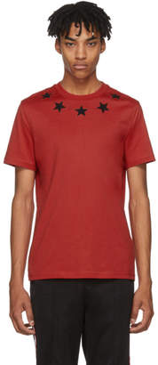 Givenchy Red and Black Stars T-Shirt