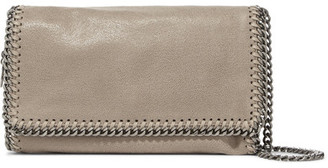 Stella McCartney - The Falabella Faux Brushed-leather Shoulder Bag - Gray $770 thestylecure.com