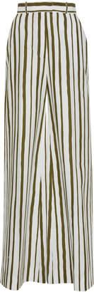 Martin Grant Striped Wide-Leg Cotton Pants