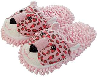 Fuzzy Friends Aroma Home Shoess Leopard, Women's Slippers,(41 EU)