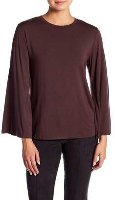 David Lerner Crew Neck Bell Sleeve Top