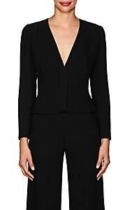 Narciso Rodriguez Women's Wool Cady Collarless Jacket - Black