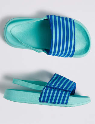 Marks and Spencer Kids' Striped Slide Sandals (5 Small - 12 Small)
