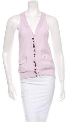 Sonia Rykiel Sleeveless Button-Up Top w/ Tags