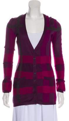 Burberry Long Sleeve Button-Up Cardigan