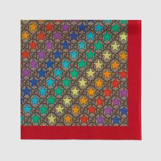 Gucci Children's GG rainbow star cotton pocket square