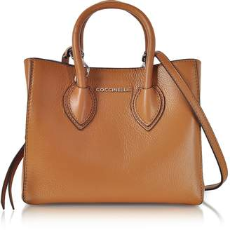 Coccinelle Farisa Brown Pebbled Leather Mini Tote Bag