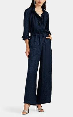 Warm Women's Ines Floral Silk Jumpsuit - Navy