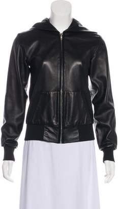 Mason Leather Zip-Up Jacket