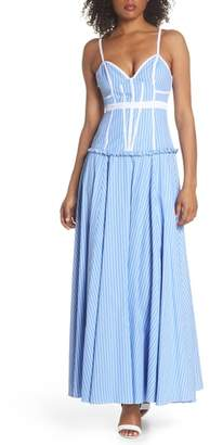 Fame & Partners Morrow Stripe Corset Gown