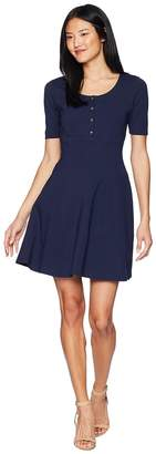 Juicy Couture Knit Fit and Flare Ponte Dress Women's Dress