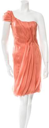 J. Mendel One-Shoulder Silk Dress