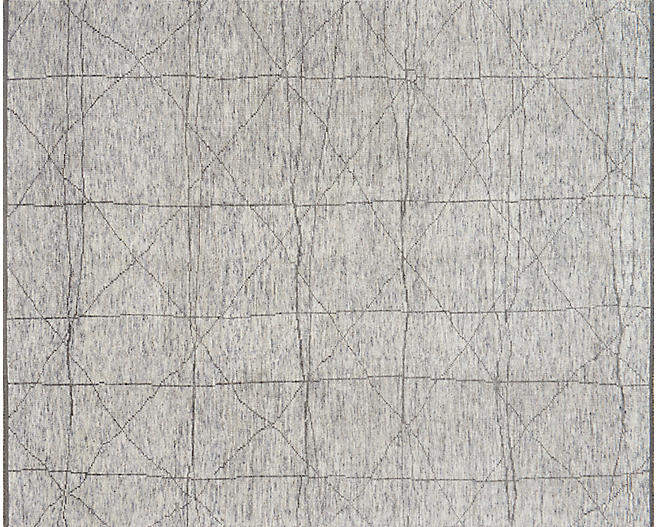 Reposa Hand-Knotted Rug - Slate/Gray - 5'6