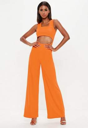 Missguided Tall Orange Cut Out Romper