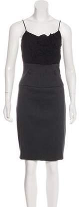 Black Halo Sleeveless Sheath Dress