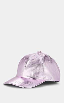Eugenia Kim Women's Leather Baseball Cap - Purple