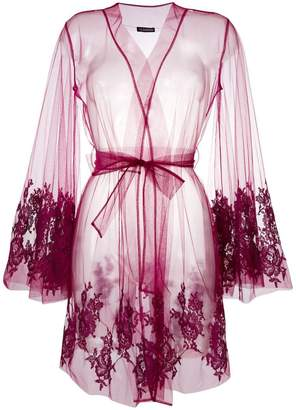 I.D. Sarrieri I.D.Sarrieri lace-embroidered night gown