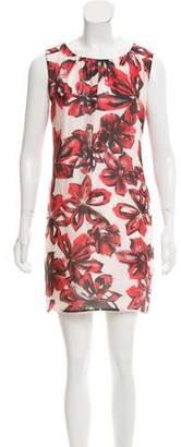 Rene Lezard Floral Print Mini Dress