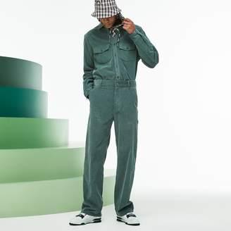 Lacoste Men's Fashion Show Boxy Fit Ribbed Italian Velour Pants