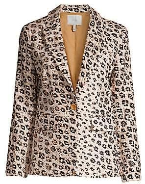 Joie Women's Anilah Leopard Linen Blazer