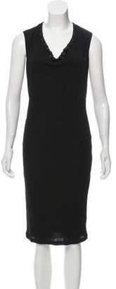 Jean Paul Gaultier Sleeveless Midi Dress Black Sleeveless Midi Dress