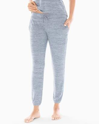Cozy Nights Banded Ankle Pajama Pant Heather Mystery Blue