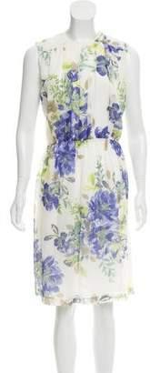 Adrienne Vittadini Silk Sleeveless Knee-Length Dress