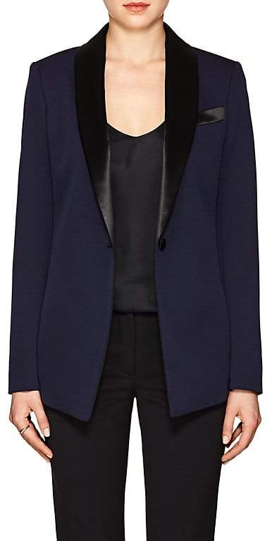 Women's Stretch-Wool One-Button Blazer