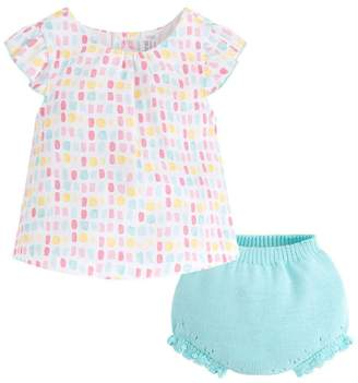 Mayoral Candy Blouse/bloomer Set