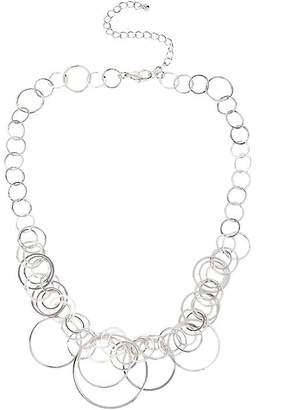 JCPenney Bold Elements Worthington Silver-Tone Circle Drop Necklace